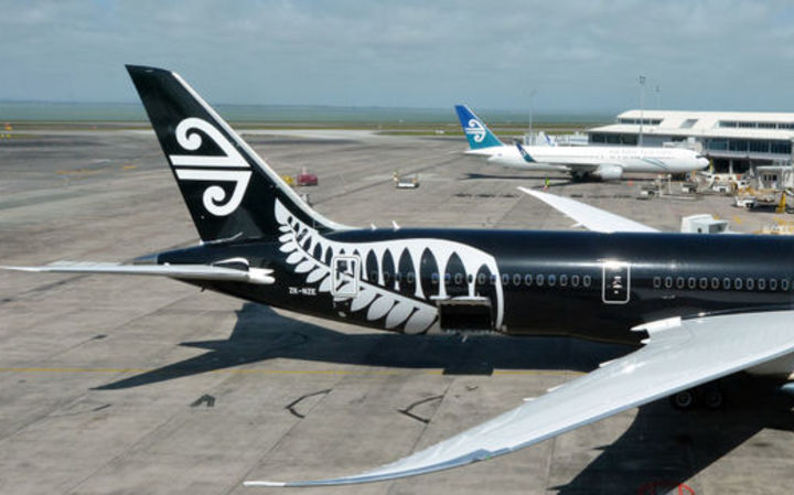 An Air New Zealand plane at Auckland Airport.