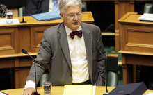 280114. Photo Diego Opatowski / RNZ.Peter Dunne speaking at Parliament.