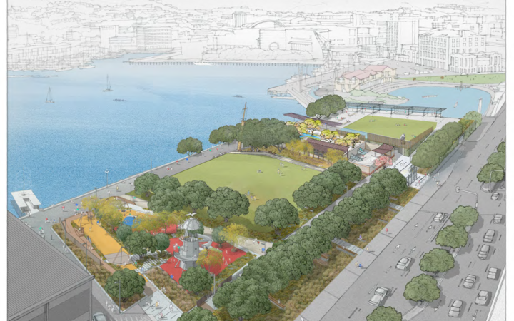 The plan for the new Waterfront park.