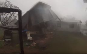 Cyclone Winston tearing a house apart in Tuatua village Koro Island Fiji. Captured by Think Pacific volunteers: http://fijicyclone.thinkpacific.com/