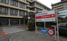 170414. Photo Diego Opatowski / RNZ. Christchurch Hospital main Entrance