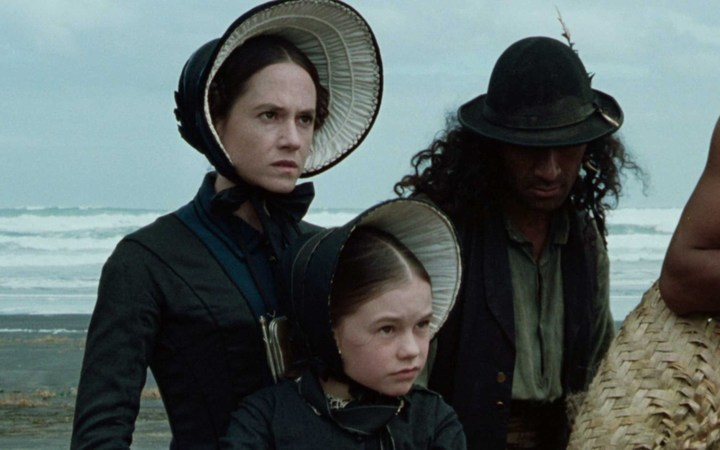 The Piano, starring Holly Hunter, left, and Anna Paquin, right, won three Academy Awards.