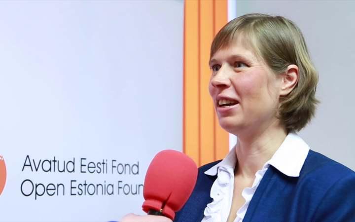 Estonian President Kersti Kaljulaid