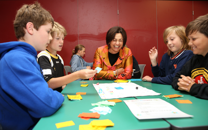 Education Minister Hekia Parata announces $10 million for maths and science at Ridgeway School.