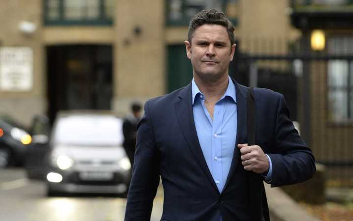 Chris Cairns arrives at Southwark court on Friday the 30th of November 2015