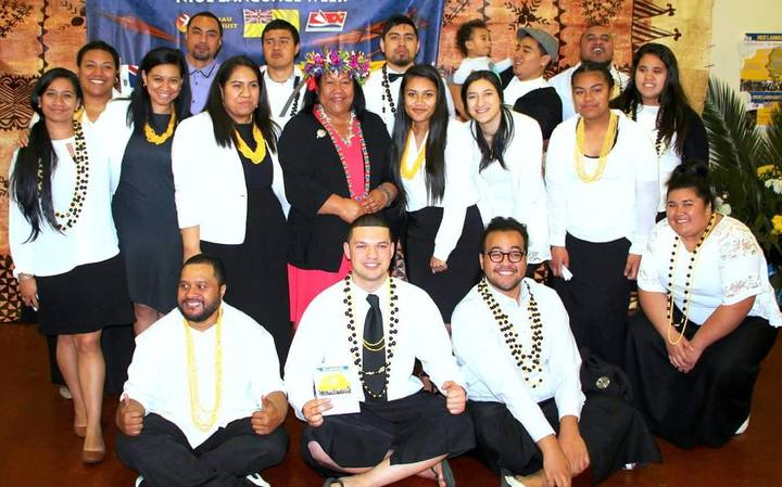 Niue Youth Network at the launch of Vagahau Niue Week.
