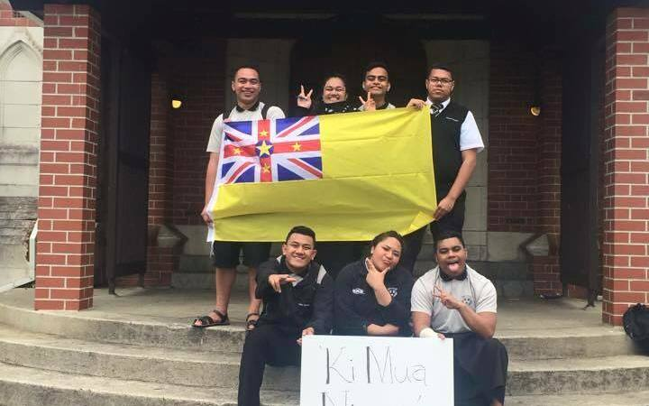 Students at Auckland's Wesley College celebrate Niue Language, Niue Youth Network.