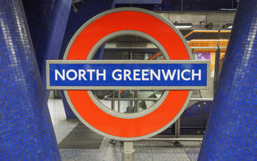 North Greenwhich station on the London underground.