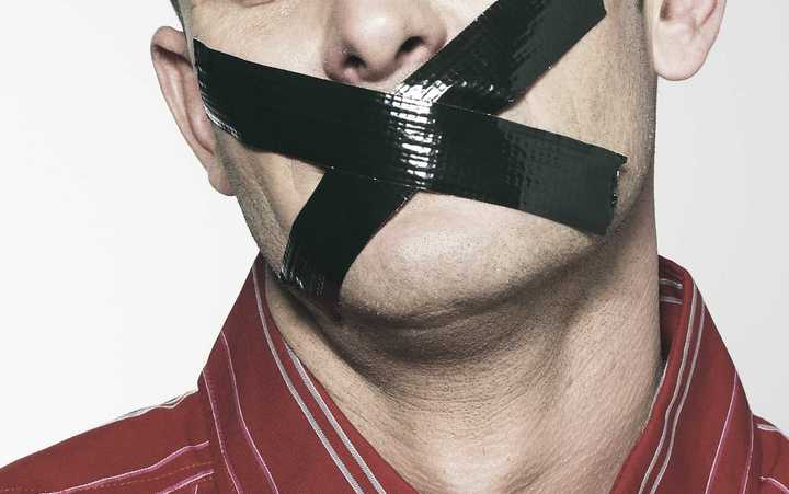 Man being 'gagged'