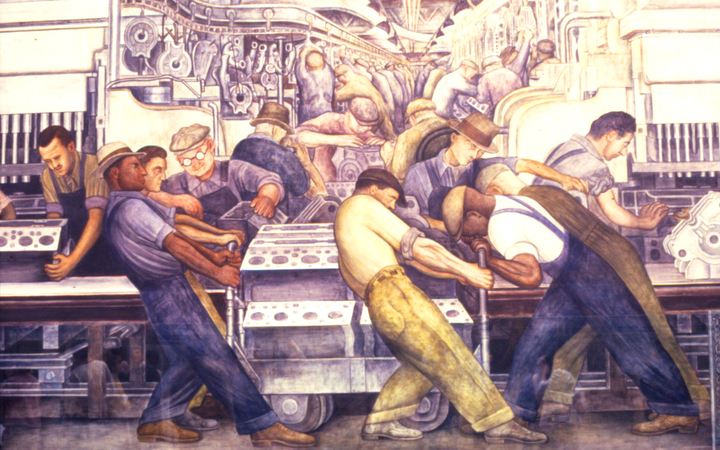 "Diego Rivera - Detail from ""Detroit Industry, or Man and Machine"""