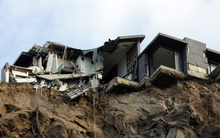 An earthquake-damaged home in the Christchurch suburb of Sumner