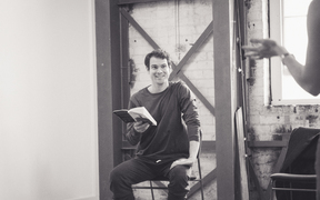 Arthur Meek at rehearsal for Lungs