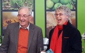 Jim Kebbell and Marion Wood, founders of Commonsense Organics