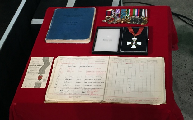 The medals and logbooks presented to MOTAT.