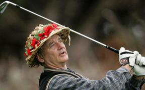 Bill Murray at the Pebble Beach National Pro-Am golf tournament