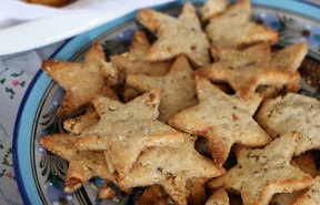 Star cookies baked with love