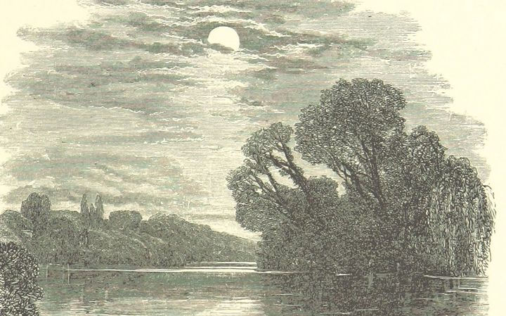 The Moon from Beauties of English Landscape. Published George Routledge & Sons, 1874.