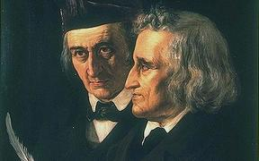 A portrait of the brothers Grimm