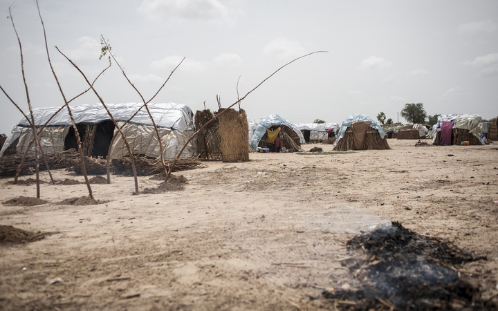An informal settlement, near the Maiduguri capital of Borno, for people displaced by Boko Haram.