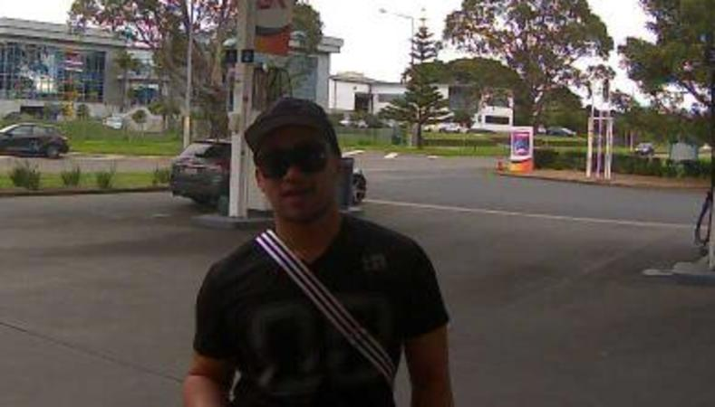 One of the alleged kidnappers, visible on CCTV footage at a service station in Wiri in south Auckland.
