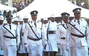 Samoa Police guard of honour