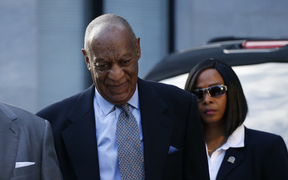 Bill Cosby arrives at court in Pennsylvania.