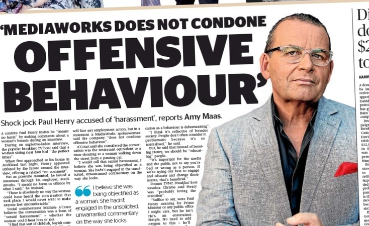 Paul Henry's sweary interview in a rival paper dominated the Sunday Star Times  - even though he was mainly saying things he's said several times before.
