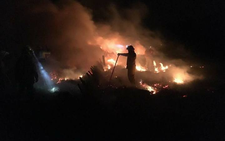 Wind hindered firefighters efforts' overnight