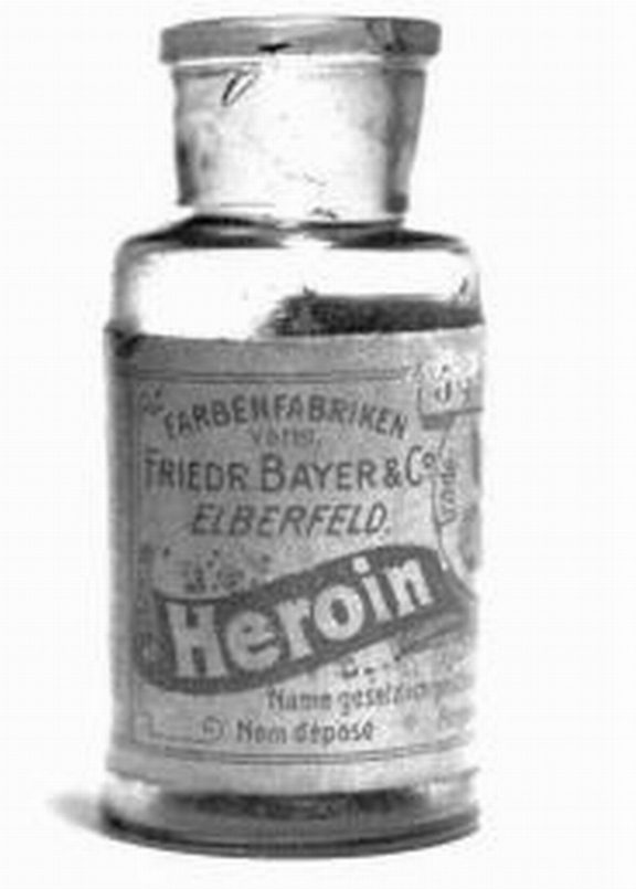 An image of a small jar of heroin, available for commercial sale.