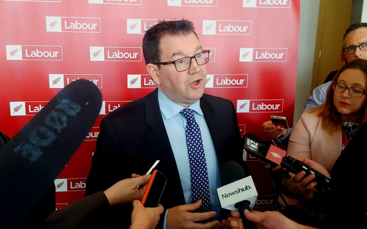Labour Party finance spokesperson Grant Robertson gives details at the release of his final Future of Work report.