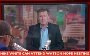 Journalist Mike White talking to Paul Henry on TV3 after the High Court ruled he can meet Scott Watson and Gerald Hope in jail.