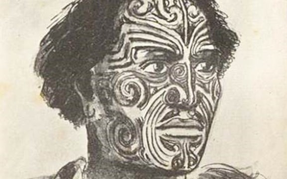 A sketch of Hongi Hika from a 1820's painting.
