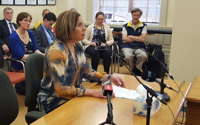Wellington GP Mary English speaks at a select committee hearing into euthanasia.