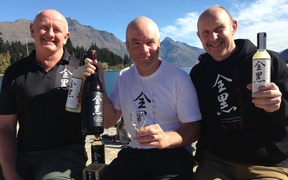 From left, Zenkuro partners Craig McLachlan, Richard Ryall and Dave Joll celebrate back home in Queenstown