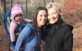 Margot Bester posted a photo of herself and Hillary Clinton on Facebook.