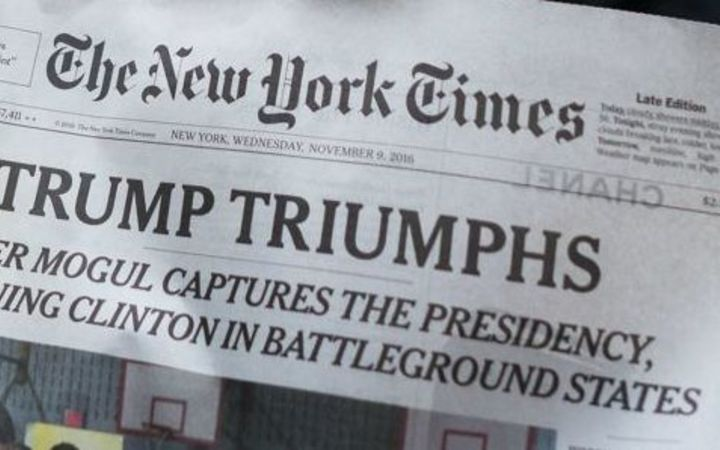 'Trump Triumphs' headline