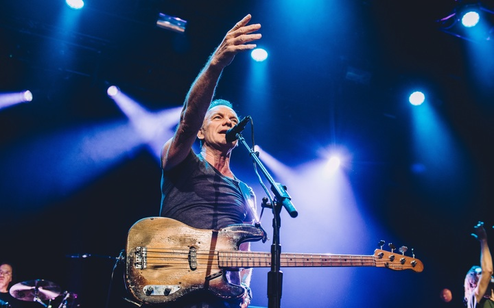 Sting performs at the Bataclan concert, a year after terrorists killed 90 people there.