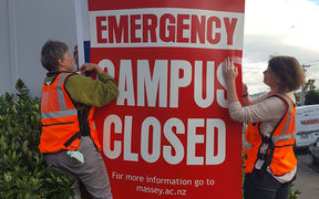 Massey campus in Wellington is closed.