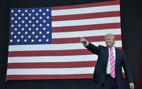 trump and flag