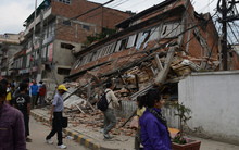 The earthquake - which hit last night (NZDT) - has toppled houses, office blocks and historic buildings in Kathmandu.