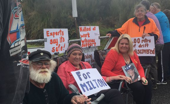 Protesters, including Anna Osborne and Sonya Rockhouse, are sitting in at the mine.