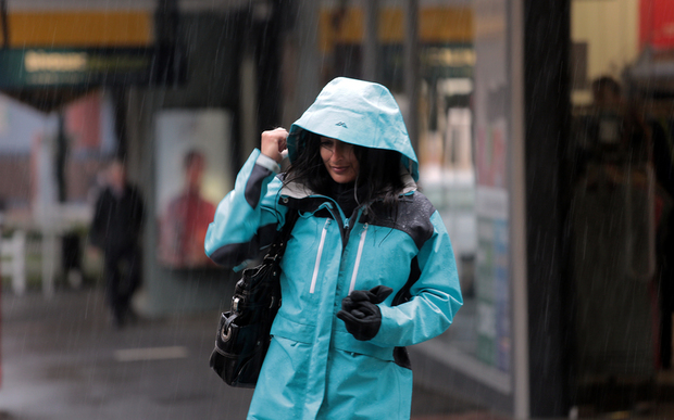 210114. Photo Diego Opatowski / RNZ. Rain in Wellington
