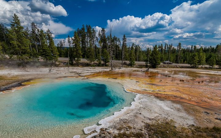 One of the thousands of hot pools at Yellowstone Park.