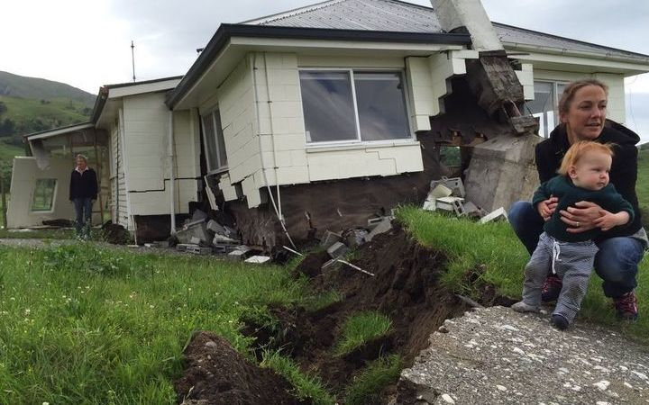 A house at Bluff Station between Blenheim & Kaikoura, which is right on the Kekerengu fault line, was demolished by the shakes.