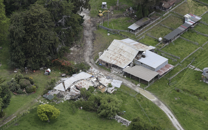 Kaikoura earthquake - Elms Homestead destroyed