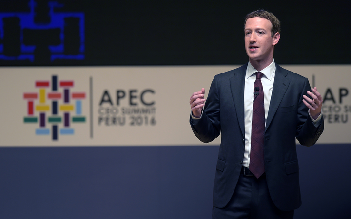 Facebook founder Mark Zuckerberg told the APEC summit his company was responding to criticism over fake news appearing on the site.