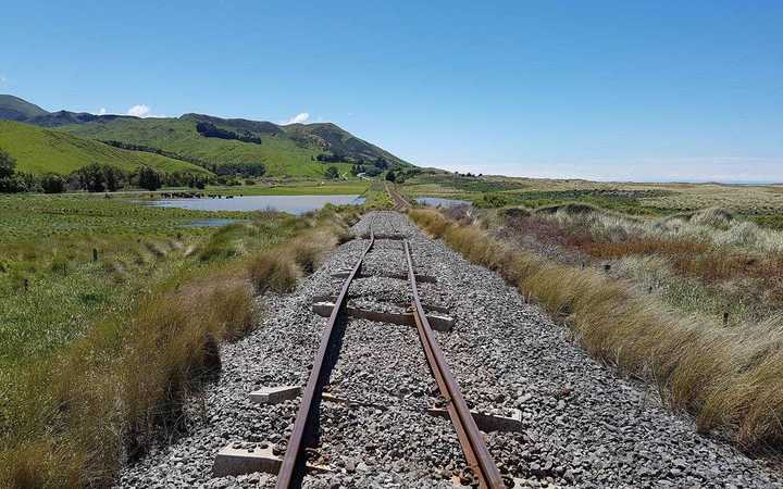Damage to the railway line in the Kaikoura earthquake.