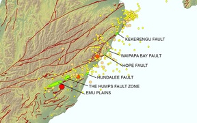 Kaikoura earthquake faults.