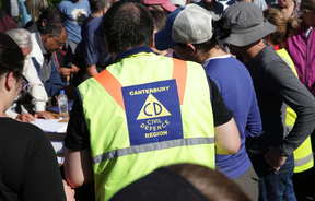Kaikoura earthquake, Civil Defence staff organising the priority evacuee's