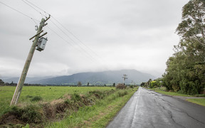 Power lines in the flats of Kaikoura